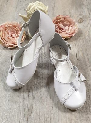 Chaussures blanches fille en cuir Florentine BLANCHES