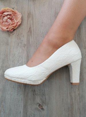 Chaussures cérémonie femme dentelle mariage communion