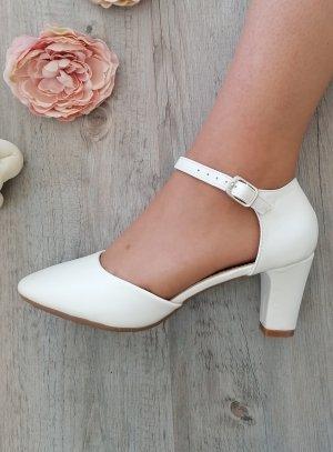 chaussure mariage femme petit talon blanche