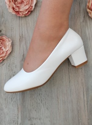 chaussures mariage blanches confortable talon bloc