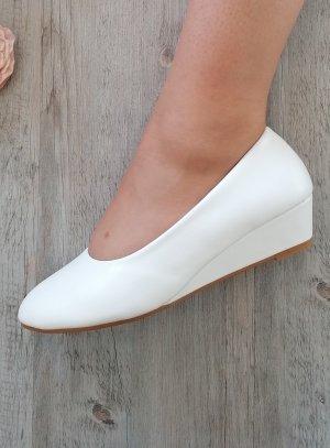 chaussure mariage talon compensé blanche femme