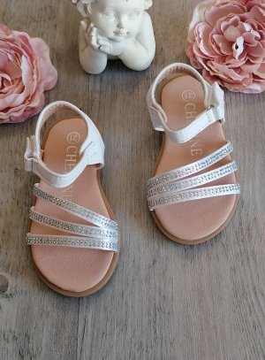 Chaussures mariage baptême communion nu-pied pour fille