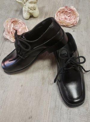 chaussure cérémonie garçon noir lacet