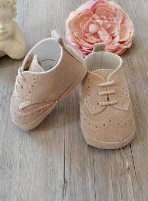 chaussure bébé mariage beige garçon