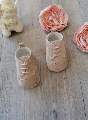 chaussure bébé mariage beige
