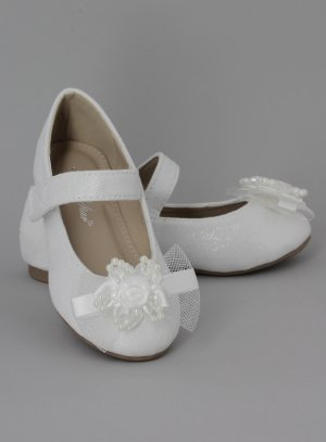 chaussure fille mariage blanche scintillantes