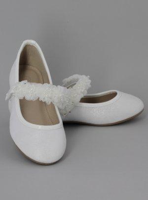ballerine blanche fille ceremonie