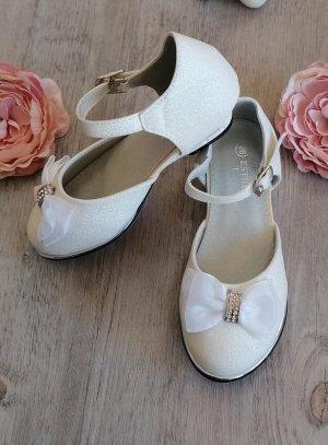 Chaussures cérémonie mariage enfant avec talon fille scintillante