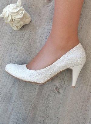 Chaussures cérémonie femme dentelle ivoire écrue