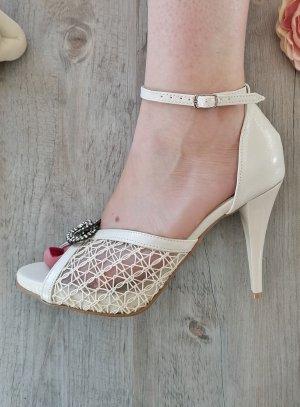 Chaussures cérémonie femme ajourées ivoire