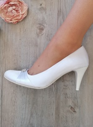Chaussures mariage femme satin blanc strass