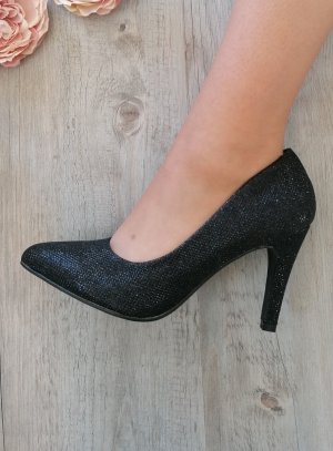 Chaussures de soirée femme scintillante noire