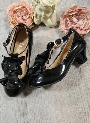 chaussure de soirée fille noir vernis
