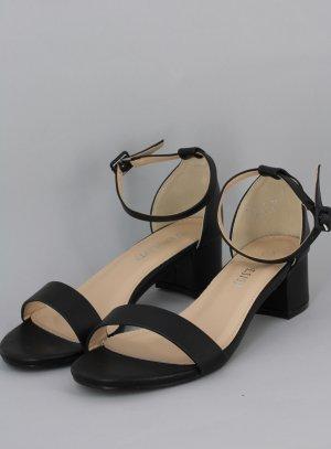 chaussures noir lanière petit talon femme pas cheres