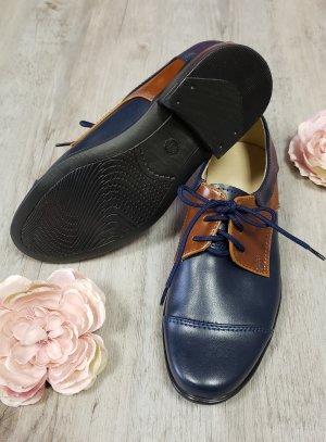 chaussures mariage garçon marron et marine