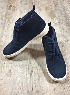 chaussures habillées garçon nubuck marine