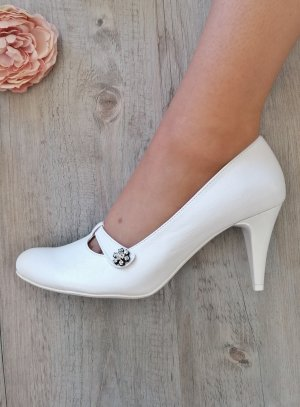 Chaussures mariage blanche pour femme éco cuir strass