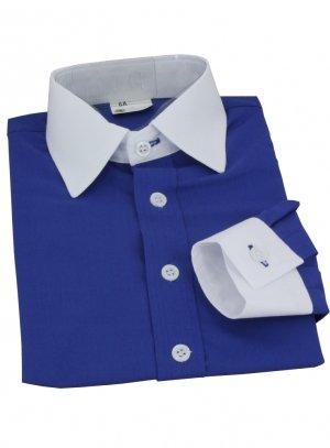 chemise enfant bleu roy