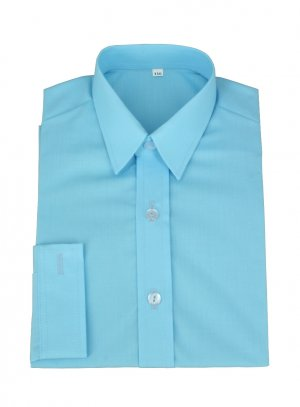 chemise enfant bleu turquoise