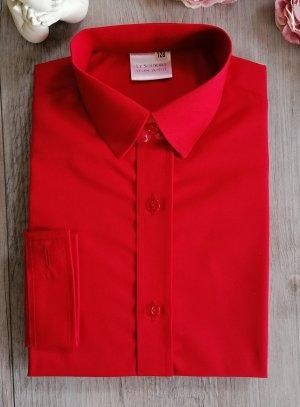 Chemise enfant rouge manches longues