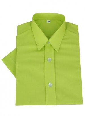 chemise enfant vert anis