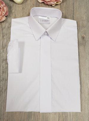 Chemise blanche enfant bouton invisible