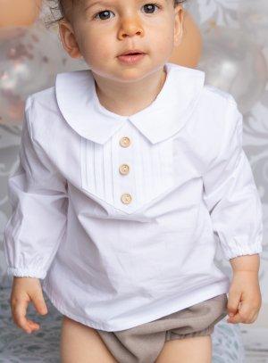 Chemise blanche petit garçon vintage