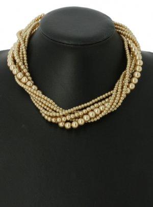 bijoux de soirée beige