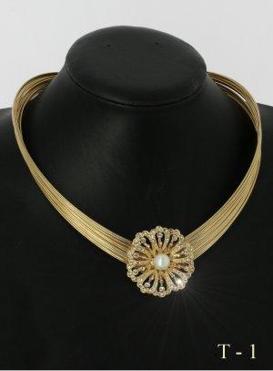 collier robe de marié ronde strass et perle - bijoux mariage fantaisie