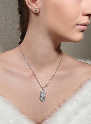 bijoux mariage coeur strass et clou strass