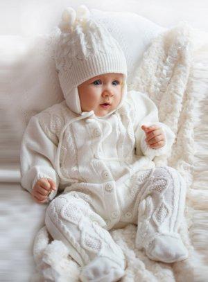 combinaison crochet bébé fille ou garçon