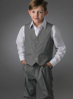 Costume garcon gris mariage pantalon + gilet Thomas