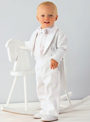 costume bébé blanc queue de pie garçon