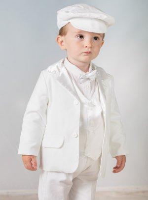 costume baptême blanc garçon hiver