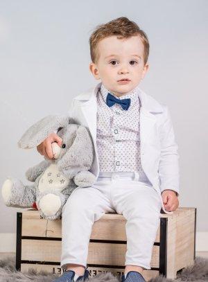 costume blanc bébé garçon pour baptême