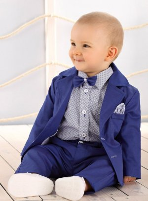 costume bébé bleu roy