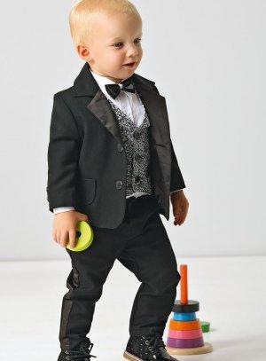 costume smoking bébé noir et blanc
