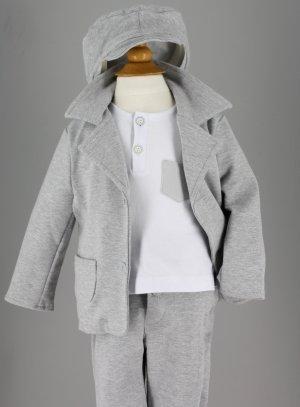 costume bébé gris
