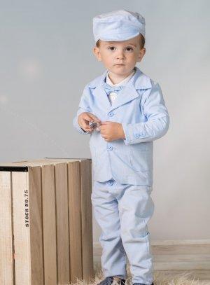 costume bébé garçon hiver bleu ciel baptême