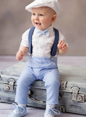 tenue bébé garçon mariage cérémonie baptême bleu ciel