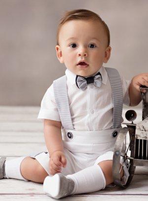Costume bébé blanc pour baptême ou mariage