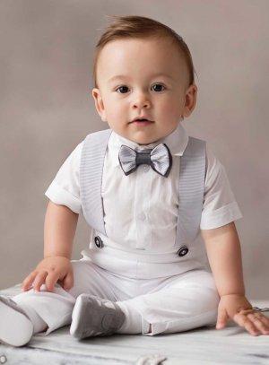 Costume baptême blanc pour bébé garçon