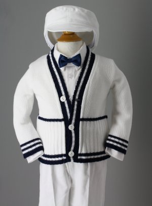 costume de baptême blanc