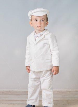 costume de baptême blanc garçon hiver