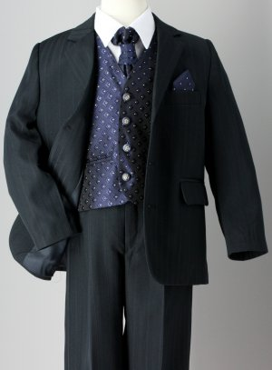 Costume garcon bleu marine William