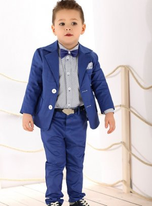 costume enfant bleu roy