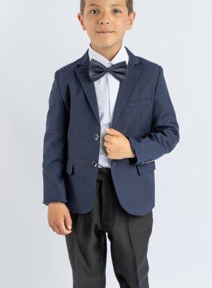 Costume bleu marine et noir enfant pour mariage
