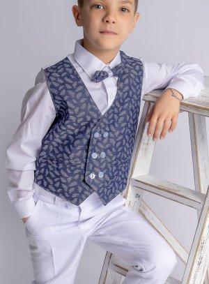 Costume garçon Renato blanc et bleu
