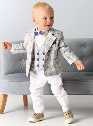 costume smoking bébé blanc boheme champêtre