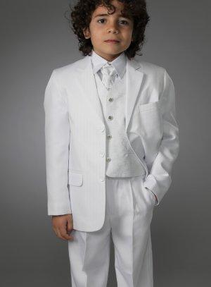 Costume garçon blanc mariage communion Peter